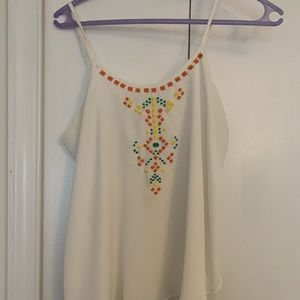 Charming Charlie's Bohemian embroidered tank